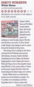 Dirty Streets Classic Rock Blues review