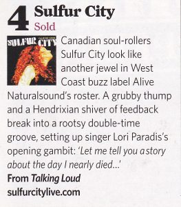 Sulfur City Classic Rock CD info